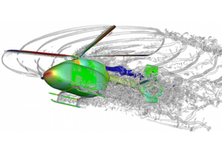 Vortex structures from a helicopter simulation