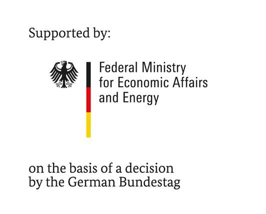 Supported by Federal Ministry for Economic Affairs and Energie on the basis of a descision by the German Bundestag
