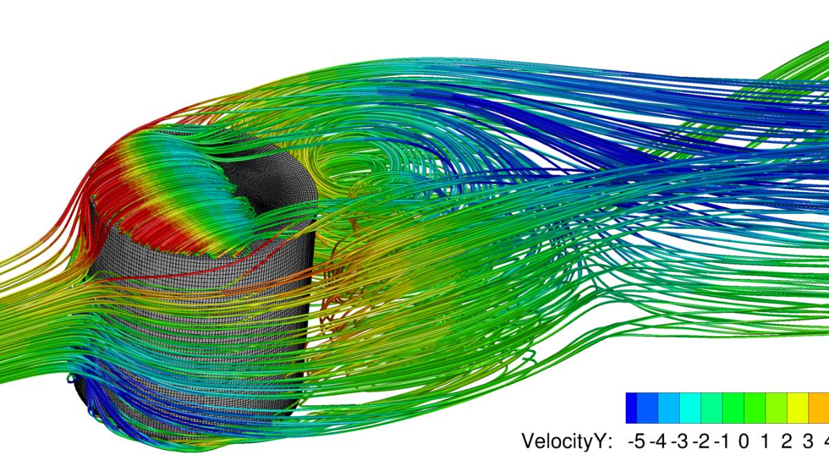 Large Eddy Simulation einer Lambda-Sonde in einer turbulenten Grenzschicht  (c)