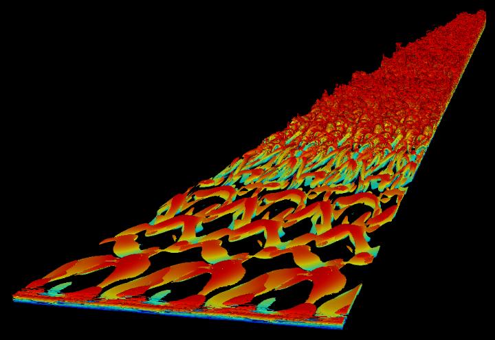 """Wirbelstrukturen einer turbulenten Überschallgrenzschicht: Simulation mit dem DG-Framework FLEXI auf der Cray XC40 """"Hazel Hen"""""""